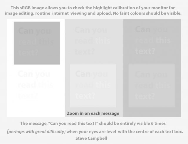 Screen Calibration Test Image